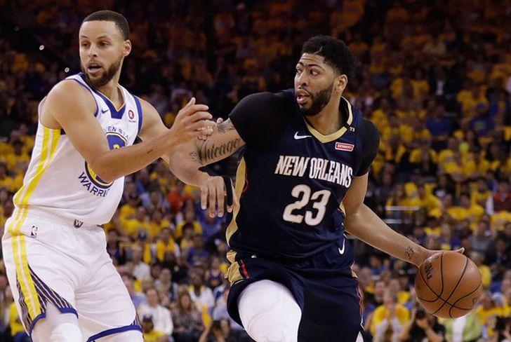 stephen, curry, golden, state, warriors, pelicans, nueva, orleans, anthony, davis, conferencia, oeste,