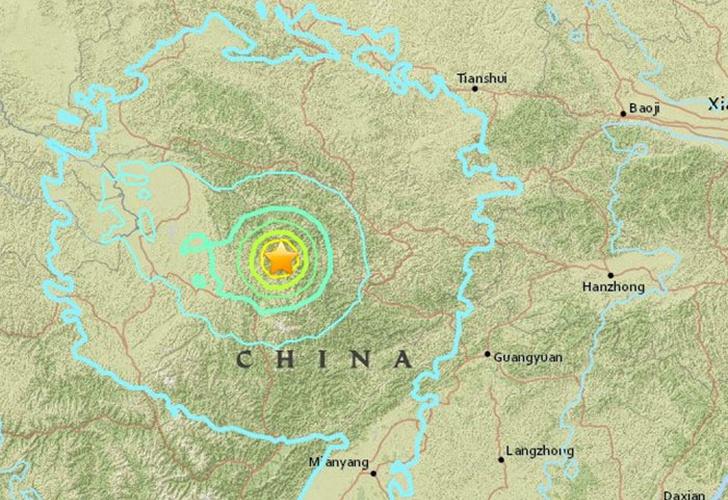 Sismo de 6.5° sacudió el centro de China