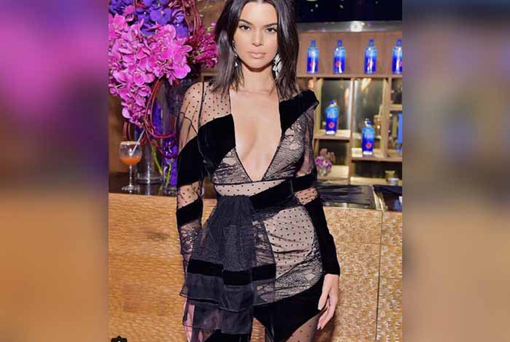 Kendall Jenner, Kendall Jenner con vestido sexy, Kendall Jenner posando, Kendall Jenner con vestido transparente,