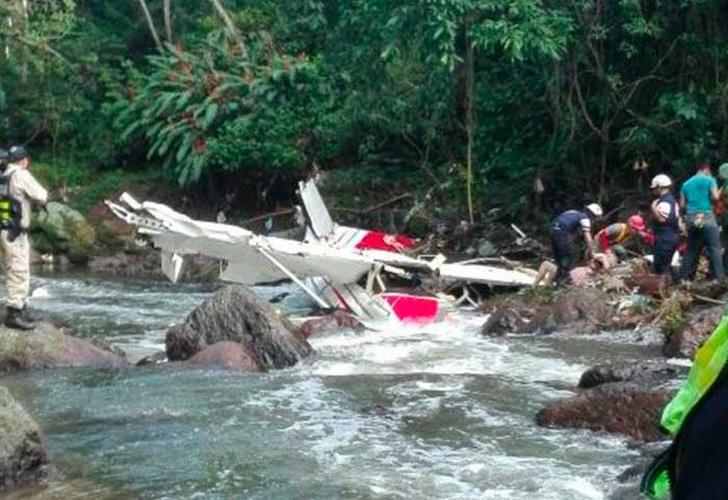 Muere uno de los cinco pasajeros de avioneta accidentada en Costa Rica
