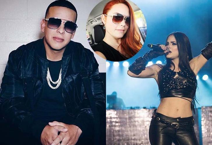 Natti Natasha Natti Natasha cantando Daddy Yankee Daddy Yankee con gafas Mireddys González esposa de Daddy Yankee
