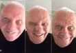 Anthony Hopkins, actor britanico Anthony Hopkins, muecas de Anthony Hopkins, ojos grandes de Anthony Hopkins,