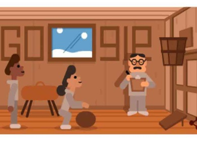 Google dedica doodle a James Naismith, creador del basket