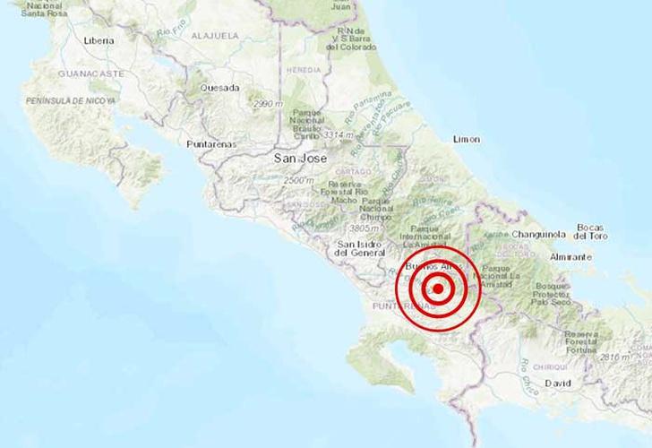 costa rica, sismo, magnitud, 5, 2,-Un sismo de magnitud 5,4 sacude el sur de Costa Rica