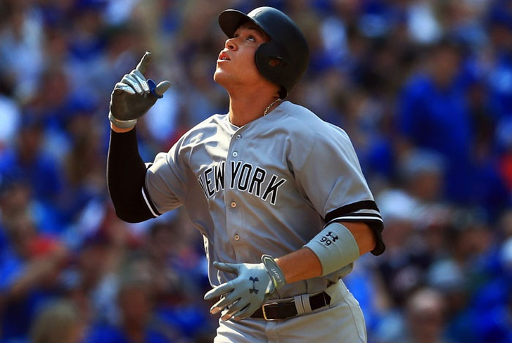 aaron, judge, nueva york, new, yankees, las mayores, record, beisbol, kansas city, reales,-Judge bate récord de jonrones para novatos en paliza de NY