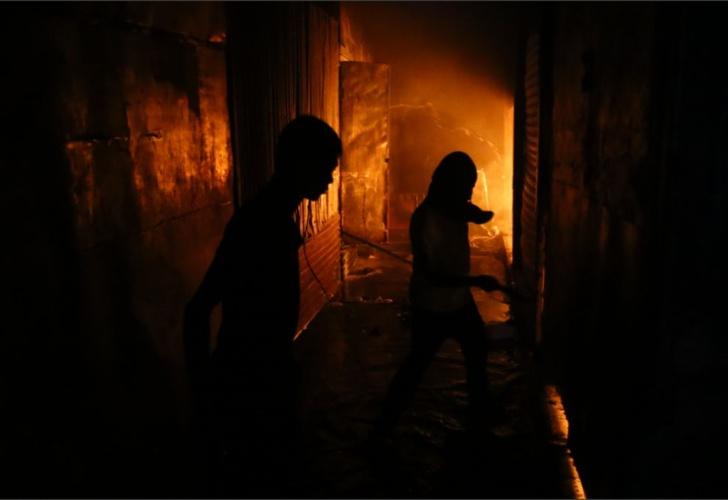 Incendio consume parte del Mercado Oriental en Nicaragua