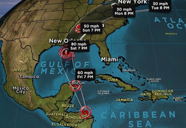 El huracán Nate se acerca a EEUU tras sembrar muerte en Centroamérica