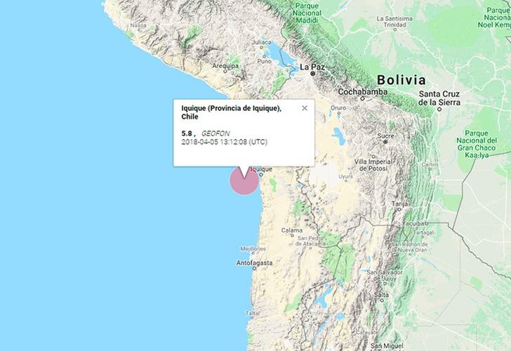 Temblor 5,5° se percibe en la zona norte del país