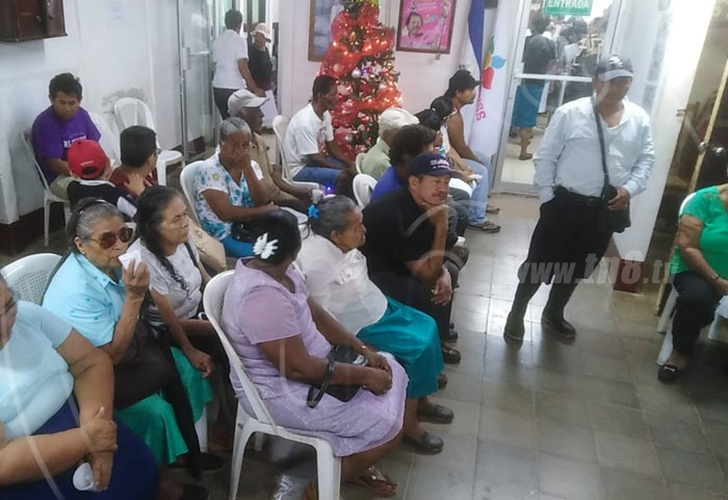 nicaragua, blufields, pension, pago, jubilados,