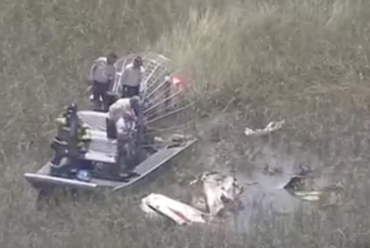 accidente aereo, florida, estados unidos, humedal, muertos, victimas, everglades,