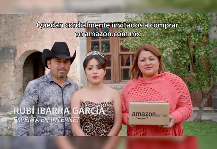 Rubí se vuelve a vestir de quinceañera para comercial de Amazon