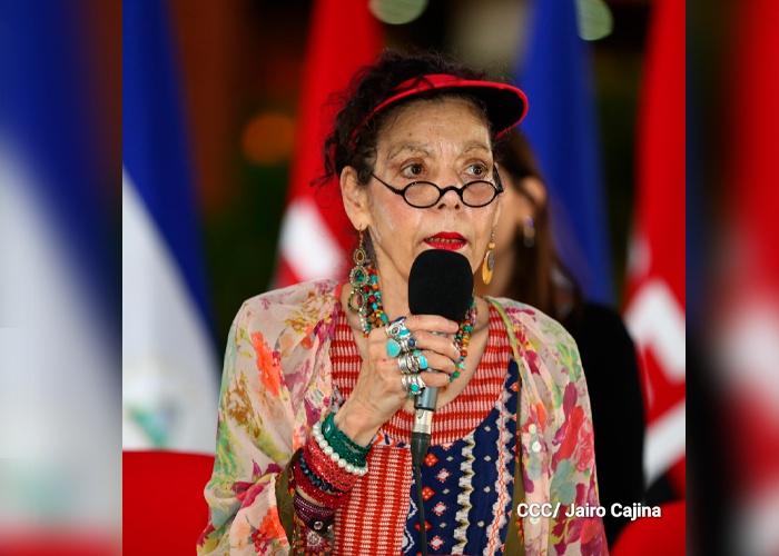 nicaragua, managua, vicepresidenta rosario murillo, acto del paso de la inmortalidad de sandino,