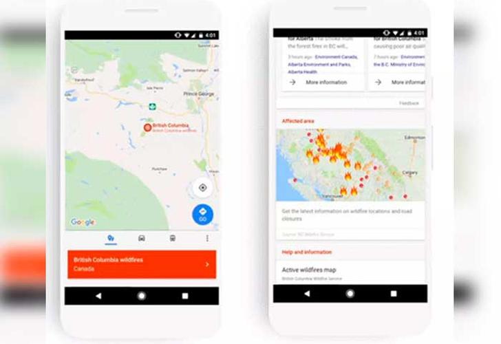 Google ofrecerá alertas sobre desastres en el buscador y los mapas