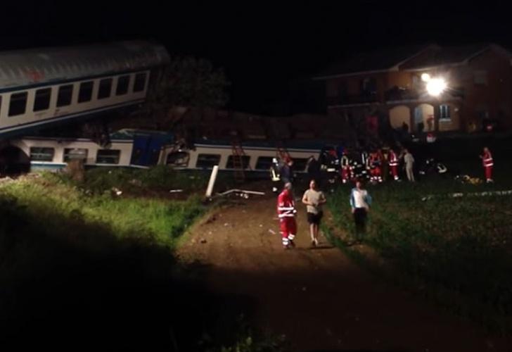 Italia: 2 muertos en descarrilamiento de tren