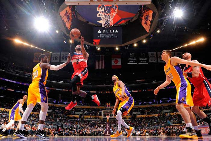 nba, playoff, wizards, washington, lakers, john, wall, angeles, denver, nuggets,-Wizards vencen a Lakers y logran título divisional