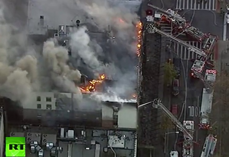 EEUU: Incendio en un edificio al norte de Manhattan