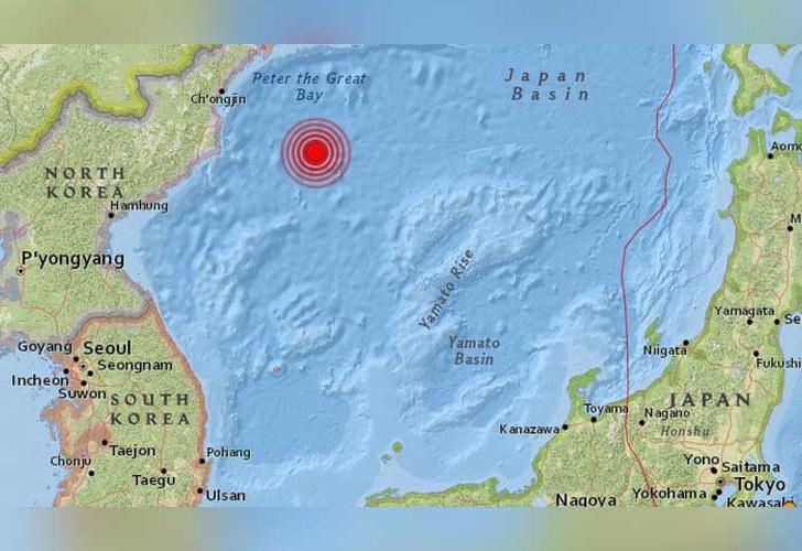Registran sismo de gran magnitud en costas de Corea del Norte