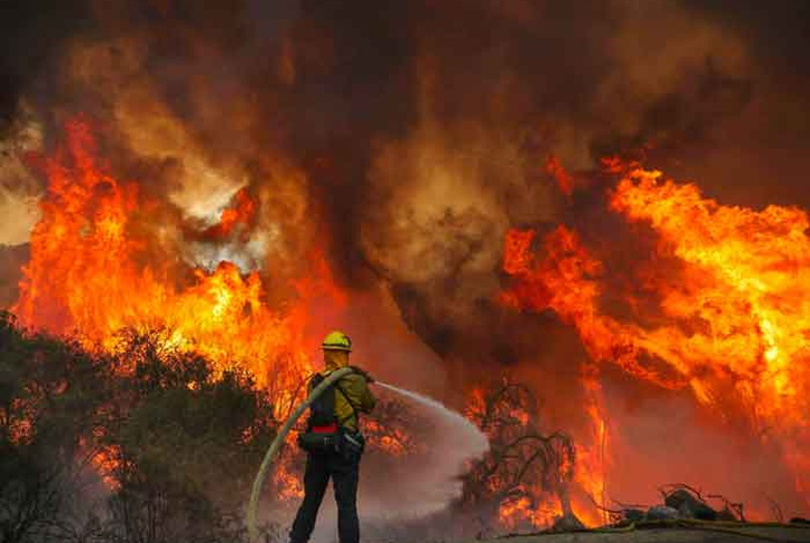 los angeles, orange, incendios, incendio forestal, evacuacion,