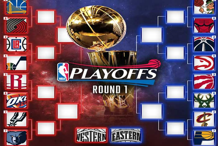 warriors, cavaliers, bulls, celtics, spurs, portland, grizzlies, thunder, rockets, clippers, jazz, pacers, raptors, bucks, hawks, wizards-Quedaron definidos los playoffs 2017 de la NBA