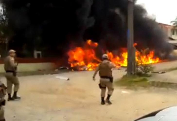 Tres personas murieron en Brasil tras estrellarse un helicóptero robado
