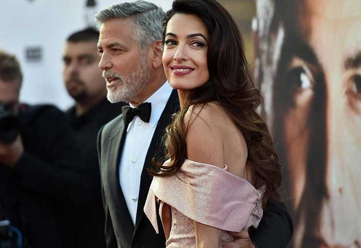 La primera foto de los hijos de Amal y George Clooney