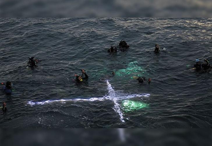 Realizaron un Via Crucis submarino en Puerto Madryn