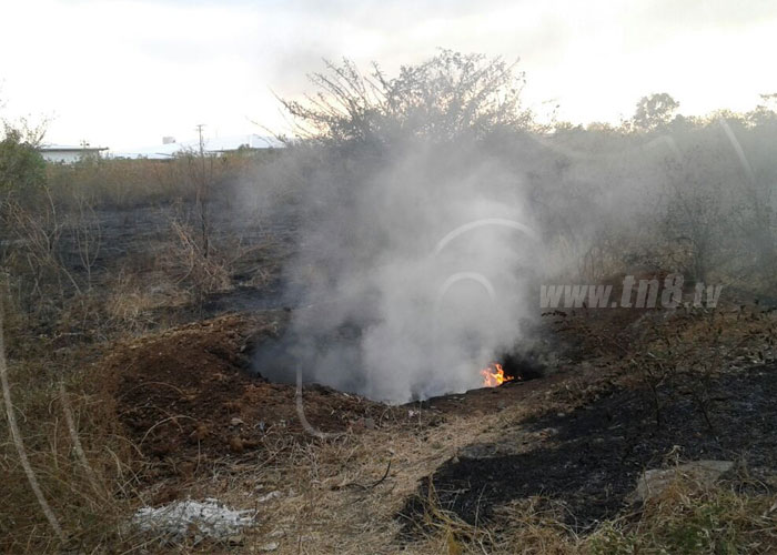 incendio, tipitapa, hospital, basura,