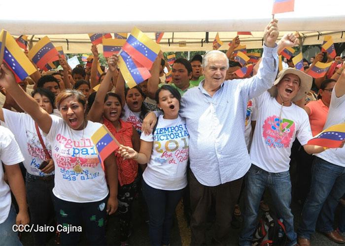 Jóvenes sandinistas de Nicaragua respaldan Constituyente en Venezuela