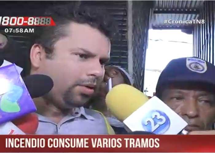 Incendio destruye parte del mayor mercado de Nicaragua