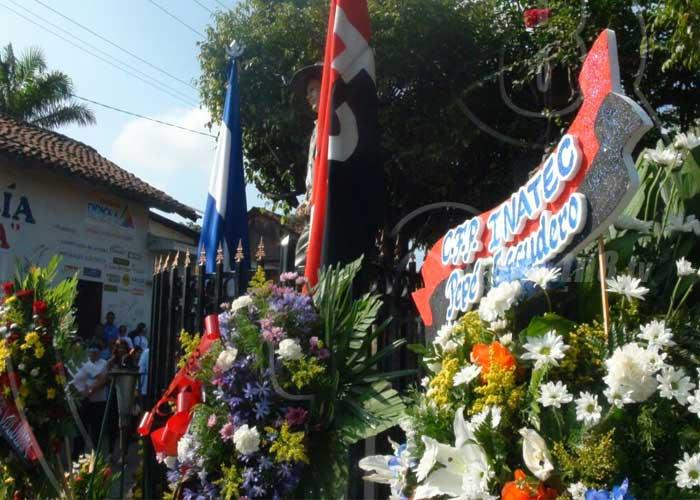 nicaragua, leon, natalicio, sandino, homenaje,