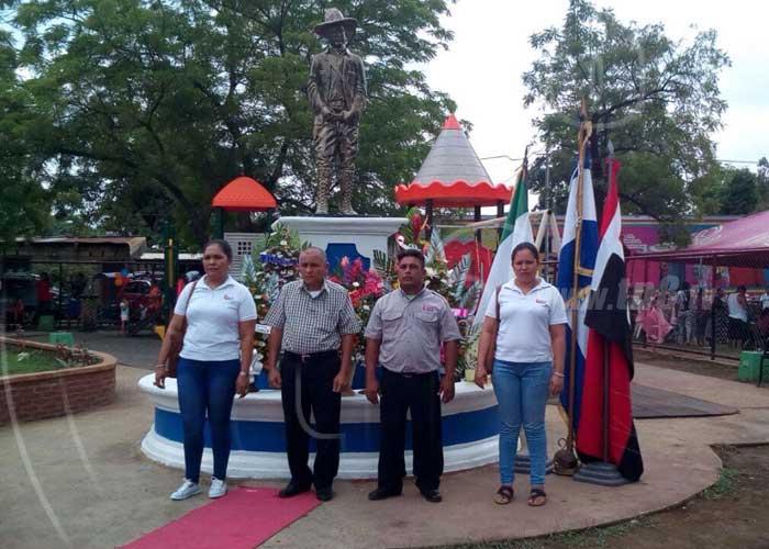nicaragua, sandino, natalicio, chinandega, homenaje,
