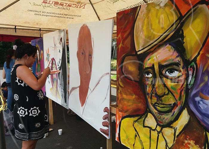 nicaragua, puertas abiertas, teatro ruben dario, natalicio sandino, pintores, plasmar en sus lienzos,
