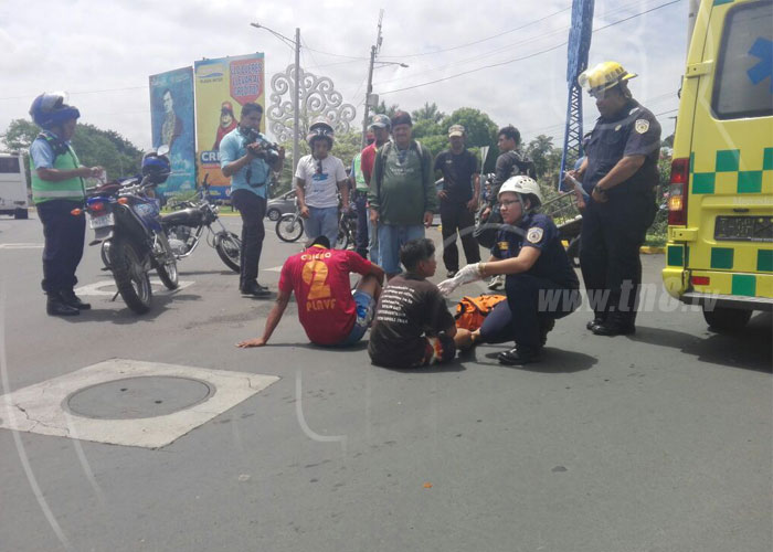 nicaragua, managua, accidente de transito, rotonda la virgen, lesionados,