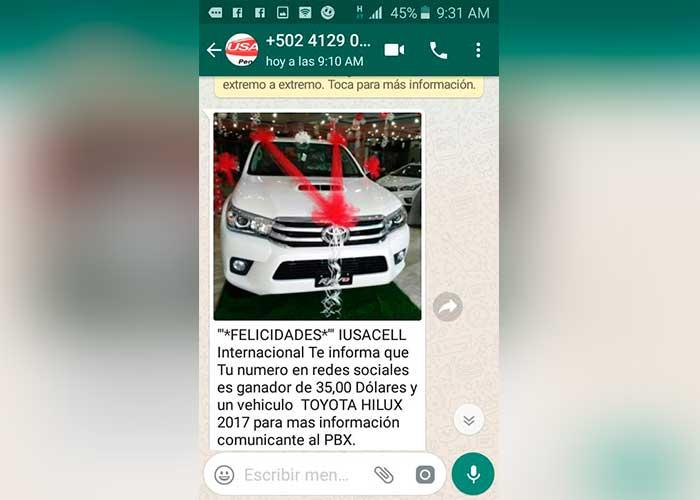 nicaragua, whatsapp, estafa, mensajes, audios, isusa internacional,