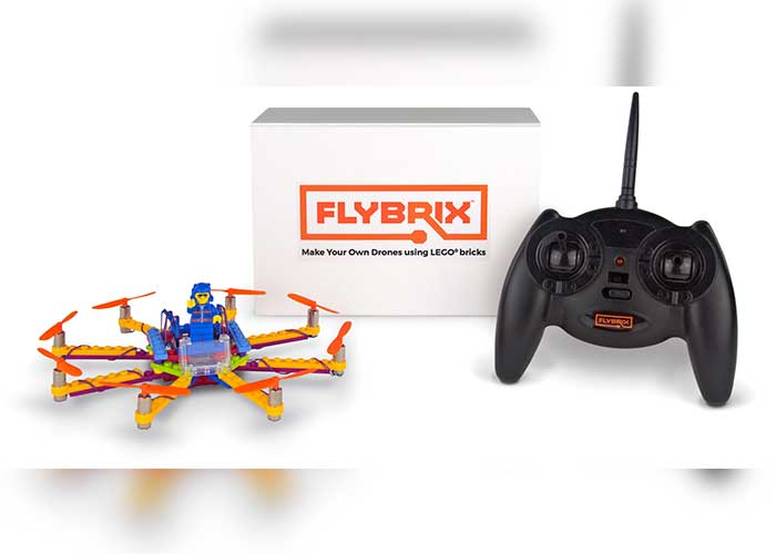 Flybrix, kits, lego, dron, helices,