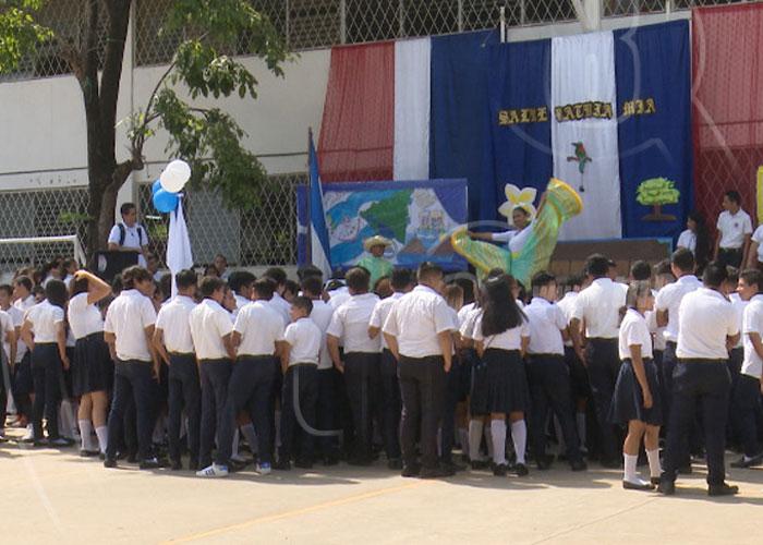 nicaragua, colegios, fiestas patrias, actos, batalla de san jacinto,