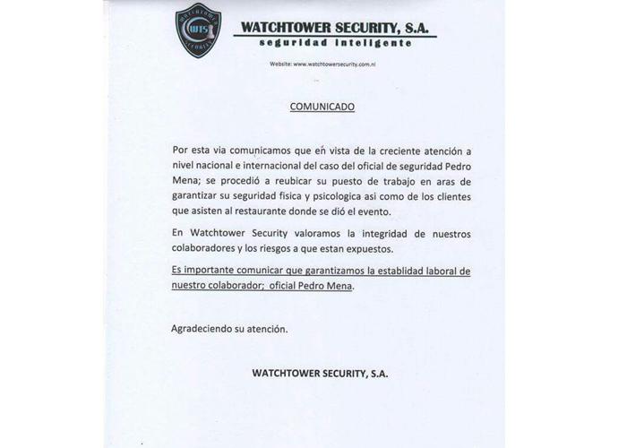 nicaragua, adios, guarda de seguridad, trabajo, acoso,