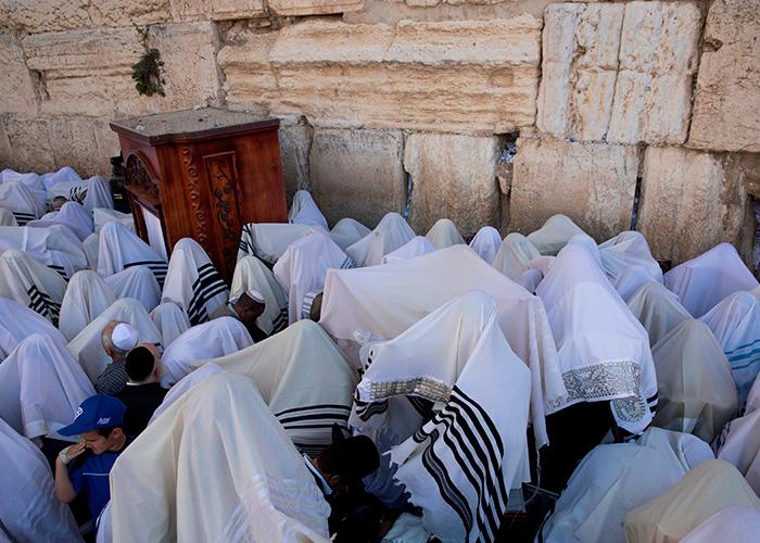 israel, miles de judios, bendicion, muro de lamentaciones, religion judaismo,