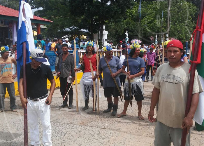 nicaragua, bluefields, indigenas, celebracion, caminata, caribe sur,