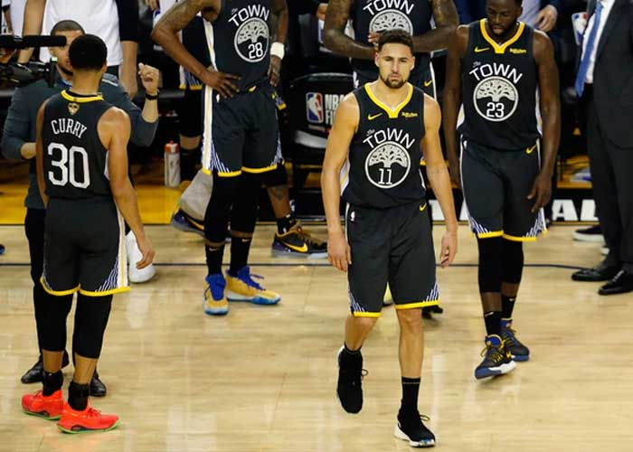 Klay Thompson se fractura la pierna en la final de NBA