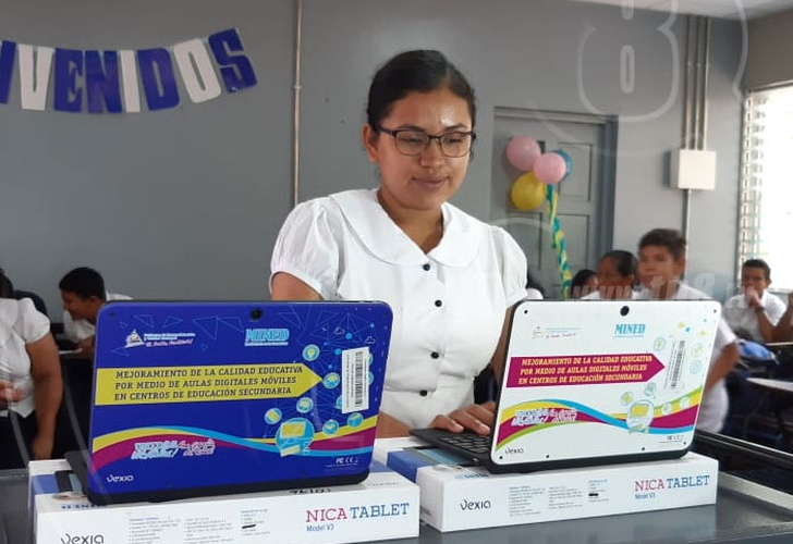 nicaragua, educacion, aula digital, minsa, infraestructura, colegios,
