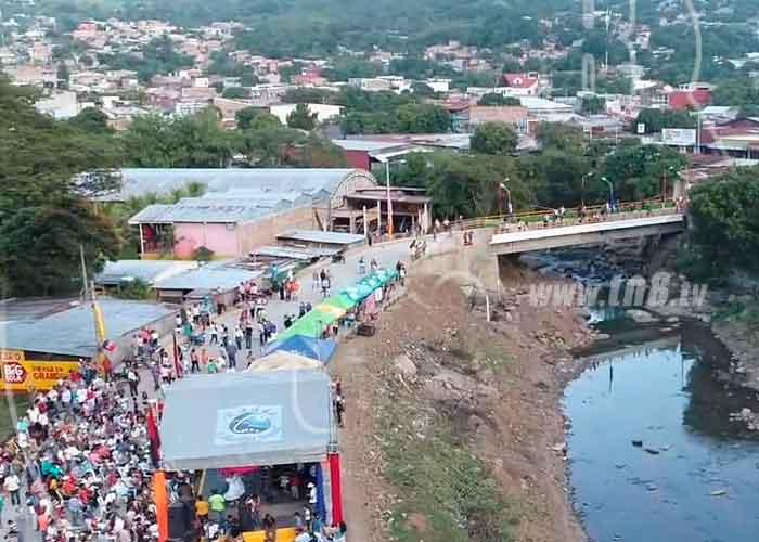 Foto: Matagalpinos se reúnen para festejar más progreso en ese departamento y en el país/TN8