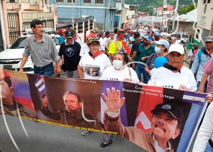 Foto: Matagalpinos salen a las calles a homenajear a todos los héroes y mártires que ofrendaron sus vidas por una Nicaragua libre/TN8