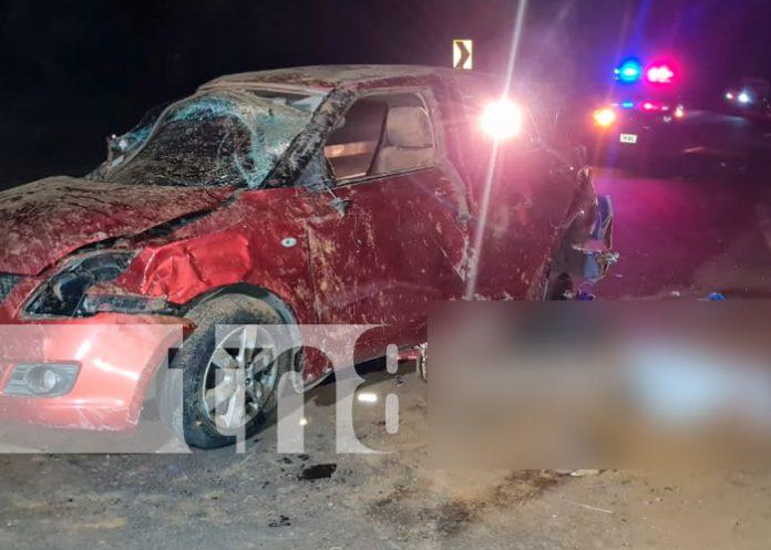 nicaragua, carretera sur, accidente de transito, vuelco,