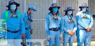 Jornada de fumigación en la Colonia Primero de Mayo, Managua