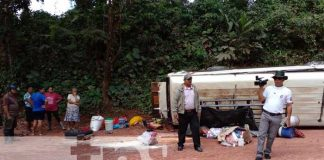 nicaragua, matagalpa, accidente vial, lesionados, policia nacional, investigaciones,