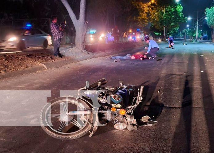 nicaragua , managua, waspan sur, accidente de tránsito, motociclista,