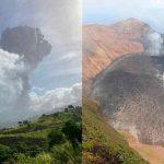 volcán La Soufrière, san vicente y las granadinas, erupcion,