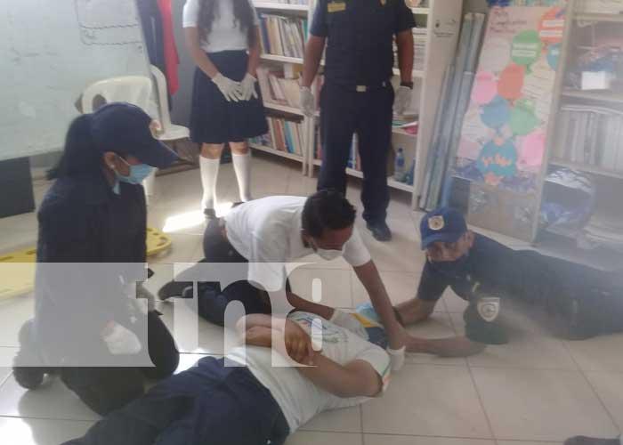 nicaragua, bomberos, teustepe, capacitacion, estudiantes, educacion,