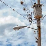 Poste de energía eléctrica en una zona de Nicaragua.